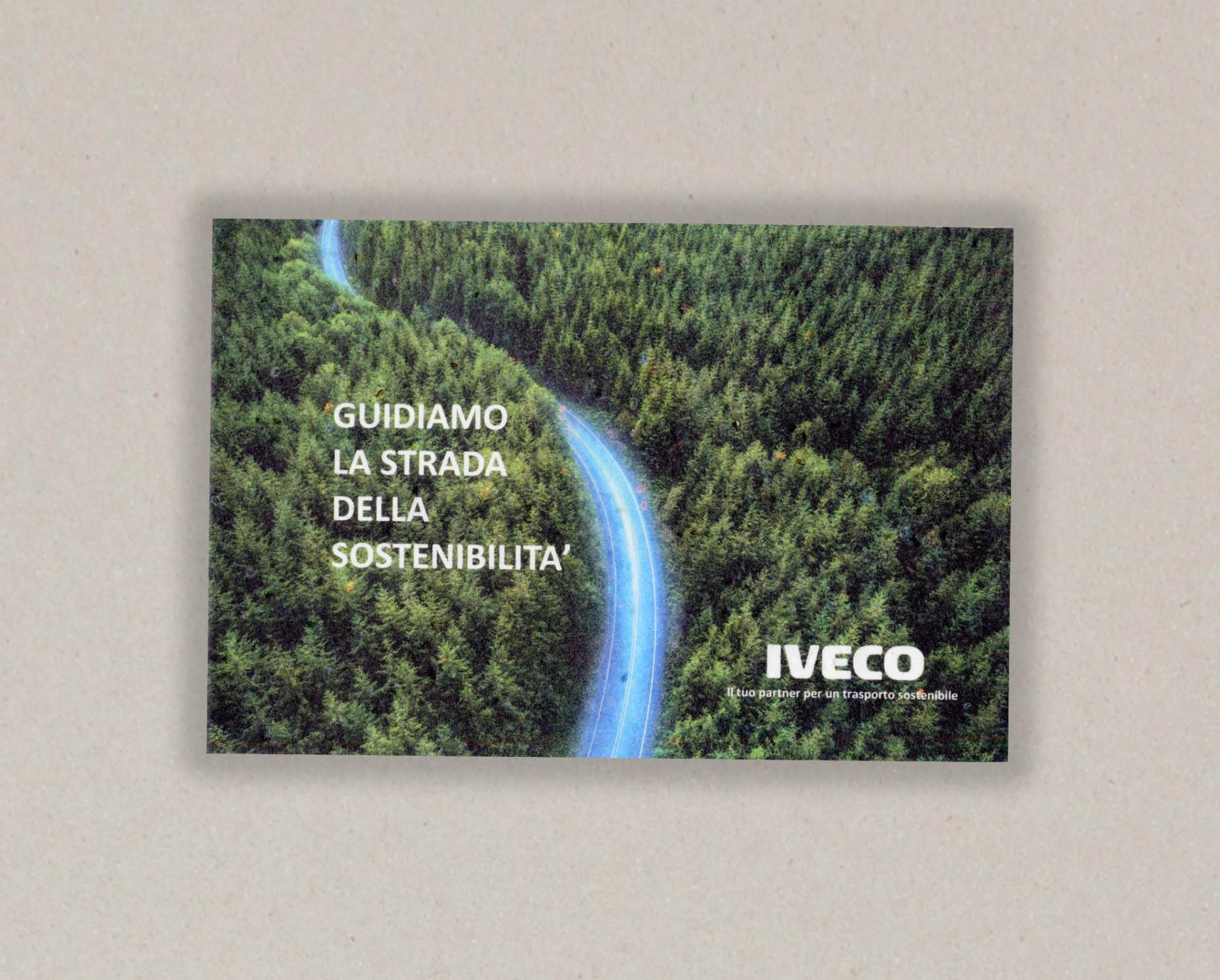 Papel con semillas para IVECO - cara A