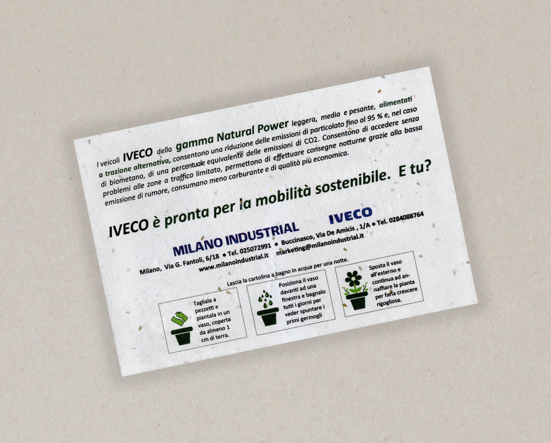 Papel con semillas para IVECO - cara B