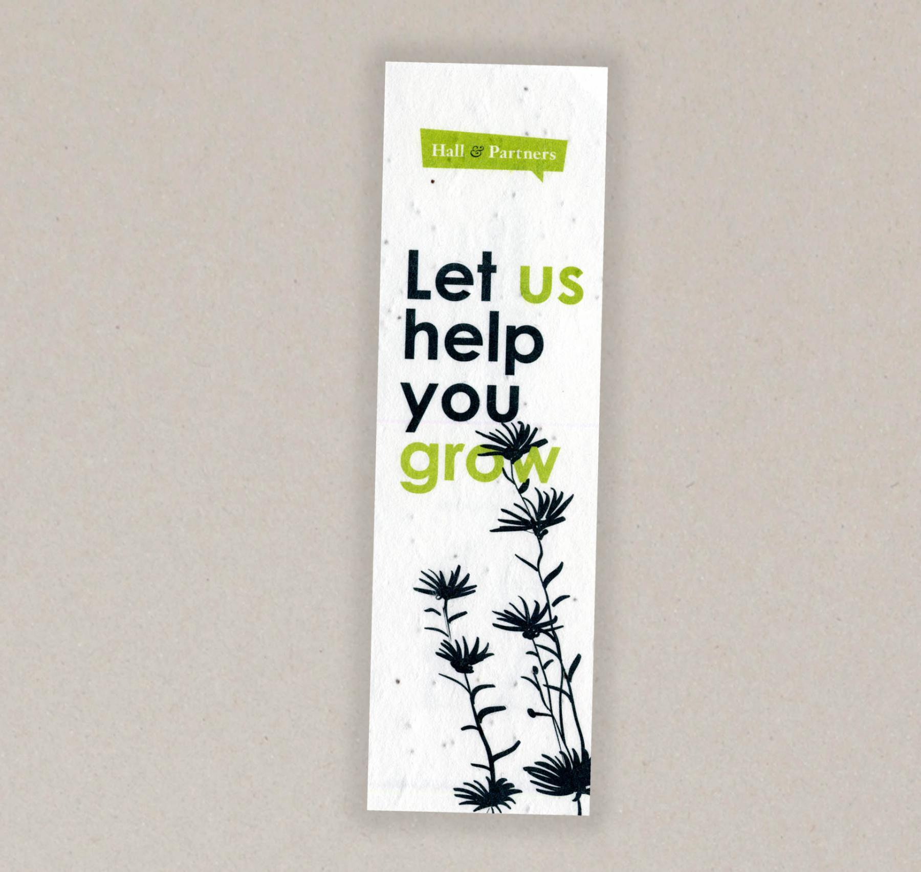 Papel con semillas para el  Hall & Partners - cara A