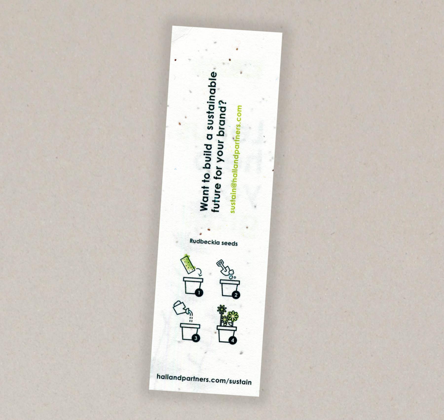 Papel con semillas para el  Hall & Partners - cara B