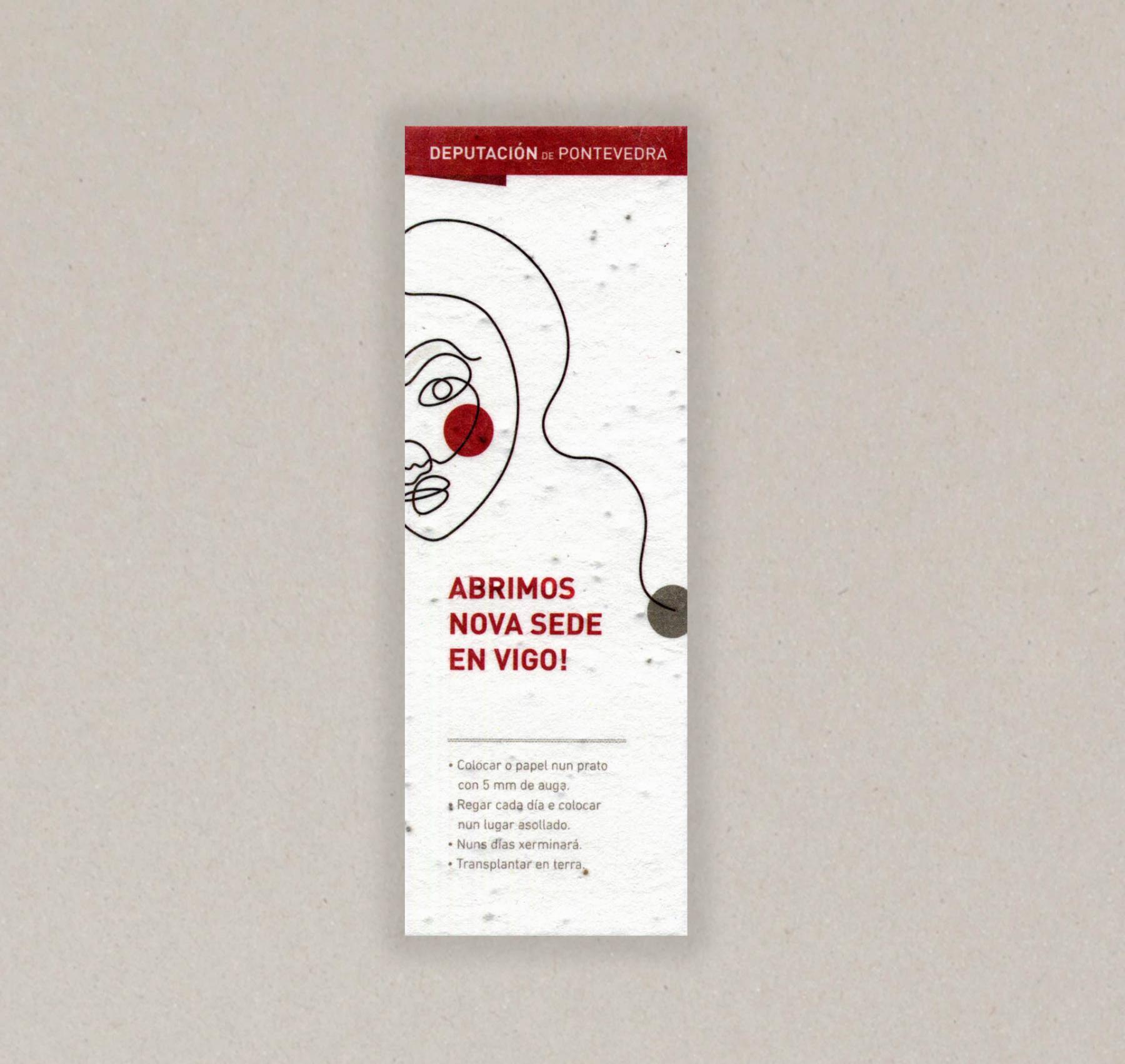 Papel con semillas para La diputación de pontevedra- cara A
